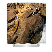 Out Of Bounds Shower Curtain