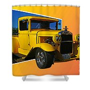 Out Of Picture Ford Shower Curtain