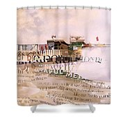 Out Of Season Shower Curtain by Jeremy Annett