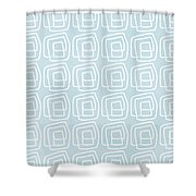 Out Of The Box Blue And White Pattern Shower Curtain