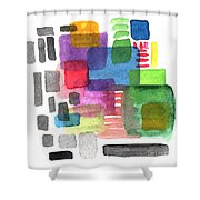 Out Of The Box Shower Curtain by Linda Woods
