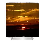 Out Of The Earth's Core Shower Curtain