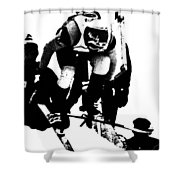 Out Of The Gate Shower Curtain