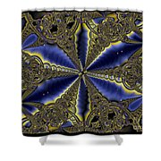 Out Of The Negative Into The Blue Flower Shower Curtain