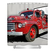 Out Of The Photo Fire Truck Shower Curtain