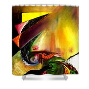 Out Of Time. Out Of Space. Shower Curtain