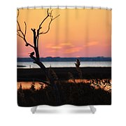 Ocean City Sunset Out On A Limb Shower Curtain