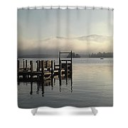 Out On The Lake Shower Curtain