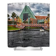 Out Running The Storm At The Dolphin Resort Shower Curtain