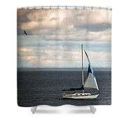 Out Running The Storm Shower Curtain