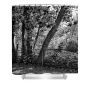 Out The Back Door Shower Curtain
