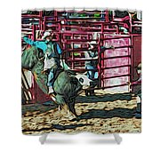Out The Chute Shower Curtain
