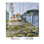 Out To Sea By Prankearts Shower Curtain