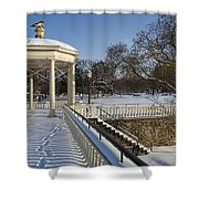 Out To The Gazebo Shower Curtain