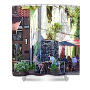 Outdoor Cafe Philadelphia Pa Shower Curtain