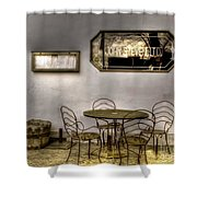Outdoor Dining Shower Curtain