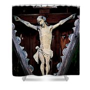 Outdoor Display Of The Crucifixion Of Christ Shower Curtain