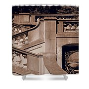 Outdoor Estate Stairway In Sepia Shower Curtain