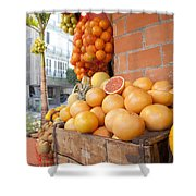 Outdoor Fruit Juice Stall  Shower Curtain