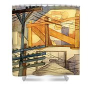 Outdoor Scaffolding  Shower Curtain