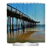 Outer Banks Pier South Nags Head 2 5/22 Shower Curtain