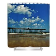 Outer Banks Pier South Nags Head 1 5/22 Shower Curtain