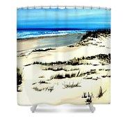Outer Banks Sand Dunes Beach Ocean Shower Curtain