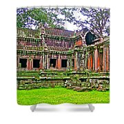 Outer Building Of Angkor Wat In Angkor Wat Archeological Park Near Siem Reap-cambodia  Shower Curtain