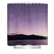Outer Space Over Lake Santeetlah In Great Smoky Mountains In Sum Shower Curtain