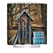 Outhouse - 5 Shower Curtain by Paul Ward