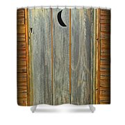 Outhouse Door Shower Curtain  Outhouse Shower Curtain