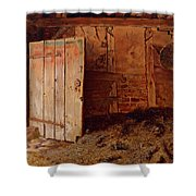 Outhouse Interior Shower Curtain