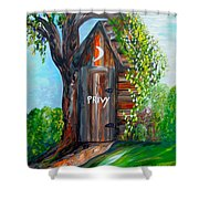 Outhouse - Privy - The Old Out House Shower Curtain