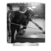 Outlaw Pool Shower Curtain