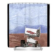Outlaw Race Car Shower Curtain
