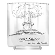 Outlaw The Bomb Shower Curtain