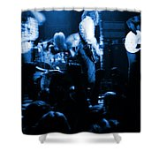 Outlaws #14 Blue Shower Curtain