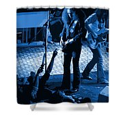 Outlaws #16 Art Blue Shower Curtain