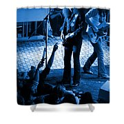 Outlaws #16 Blue Shower Curtain
