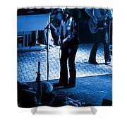 Outlaws #17 Blue Shower Curtain