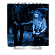 Outlaws #20 Crop 3 Blue Shower Curtain