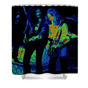 Outlaws #25 Crop 2 Art Psychedelic Shower Curtain