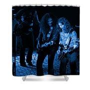 Outlaws #25 Crop 2 Blue Shower Curtain