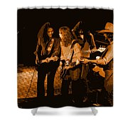 Outlaws #26 Crop 2 Art In Amber Shower Curtain
