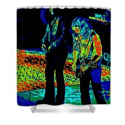 Outlaws #31 Crop 2 Art Psychedelic Shower Curtain