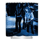 Outlaws #32 Crop 2 Blue Shower Curtain