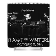 Outlaws With Toy Caldwell 1975 Shower Curtain