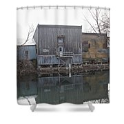 Outlet Storage Shower Curtain