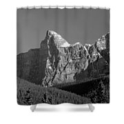 1m3621-bw-outlier Of  Mt. Murchison  Shower Curtain