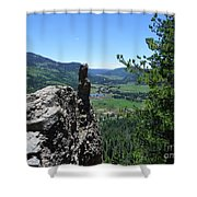 Outlook From The Ridge Shower Curtain